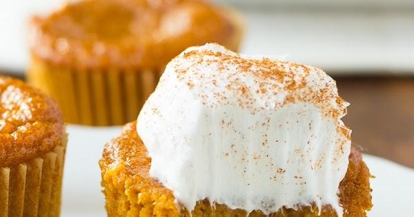 Gluten Free Crustless Pumpkin Pie Cupcakes