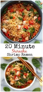 20-Minute Sriracha Shrimp Ramen Recipe