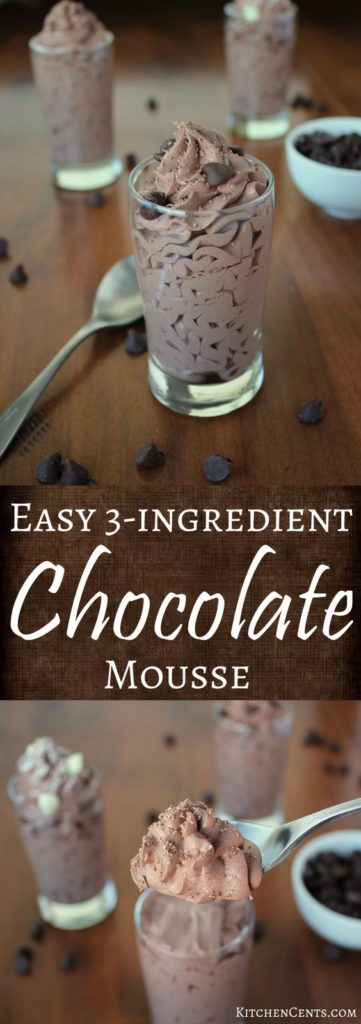 3-Ingredient Chocolate Mousse Recipe