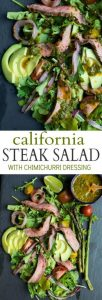 California Steak Salad with Chimichurri Dressing