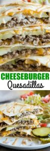 Cheeseburger Quesadillas Recipe