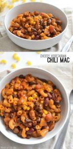 Cheesy Vegetarian Chili Mac Recipe