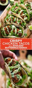 Crispy Chicken Tacos with Avocado Buttermilk Ranch Recipe
