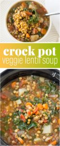 Crock Pot Vegetable Lentil Soup