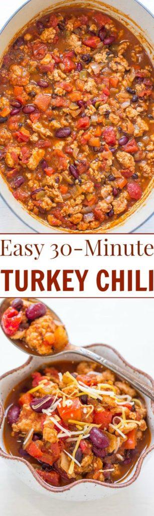 Easy 30-Minute Turkey Chili