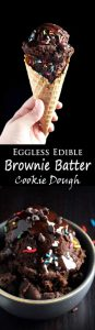 Eggless Edible Brownie Batter Cookie Dough Recipe