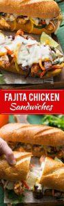 Fajita Chicken Cheesesteak Sandwiches Recipe