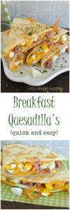 Ham and Cheese Breakfast Quesadillas Recipe