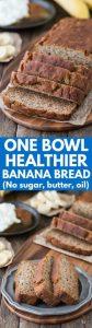 Healthier Banana Bread Recipe