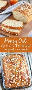 Honey Oat Quick Bread Recipe