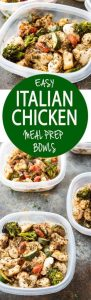 Italian Chicken Meal Prep Bowls Recipe