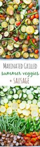 Marinated Grilled Summer Veggies with Sausage Recipe