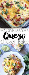 One Dish Queso Chicken Bake Recipe (Easy Dinner)