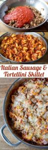 One Pan Sausage and Tortellini