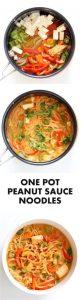 One Pot Peanut Sauce Noodles Recipe