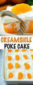 Orange Creamsicle Poke Cake Recipes