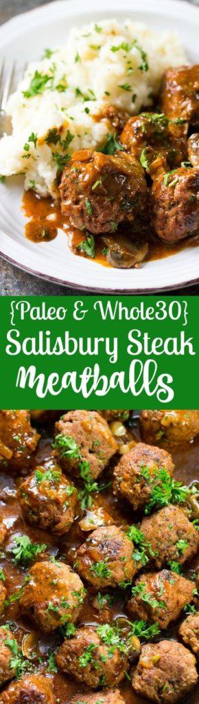 Paleo Salisbury Steak Meatballs Recipe (Whole30)