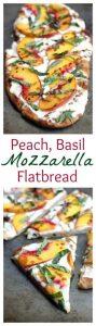 Peach, Basil, Mozzarella Flatbread