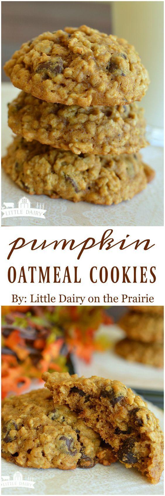 Pumpkin Oatmeal Chocolate Chip Cookies Recipe – Cucina de Yung