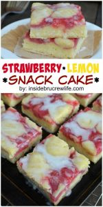 Strawberry Lemon Snack Cake Recipe