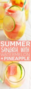 Summer Sangria with Watermelon and Pineapple Recipe