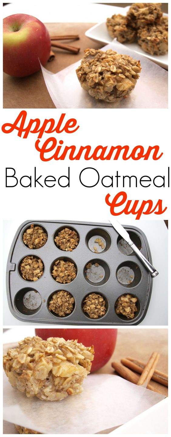 apple cinnamon baked oatmeal cups gluten-free, dairy-free, nut-free, soy-free