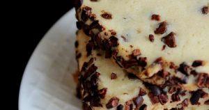 Cream Cheese Cocoa Nib Cookies {Slice & Bake}