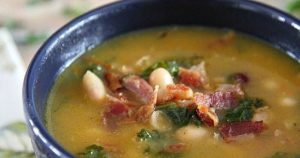 Ham Bone Soup with Great Northern Beans and Kale