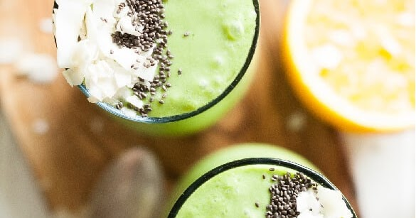 Tropical Paleo Green Smoothie Recipe {Paleo, Gluten-Free, Dairy-Free, Clean Eating, Vegan}