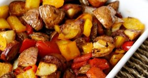 Sausage, Potato & Peppers Healthy Skillet