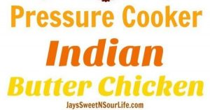 Pressure Cooker Indian Butter Chicken