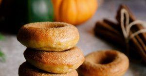 Mini Pumpkin Cinnamon Sugar Donuts