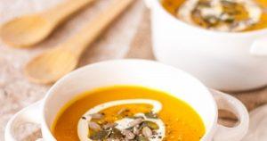 Spiced Pumpkin Carrot and Sweet Potato Soup