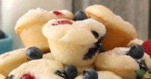 Berry Protein Pancake Bites