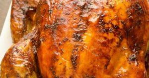 Dry Brined Orange Rosemary Roasted Turkey