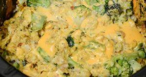 Crock Pot Broccoli Cheese Casserole