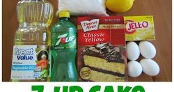 Easy Lemon 7-Up Cake!