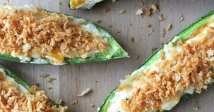 Three-Cheese Jalapeno Poppers