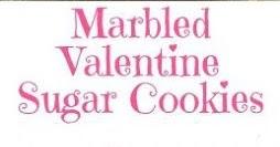 Marbled Valentine Sugar Cookies
