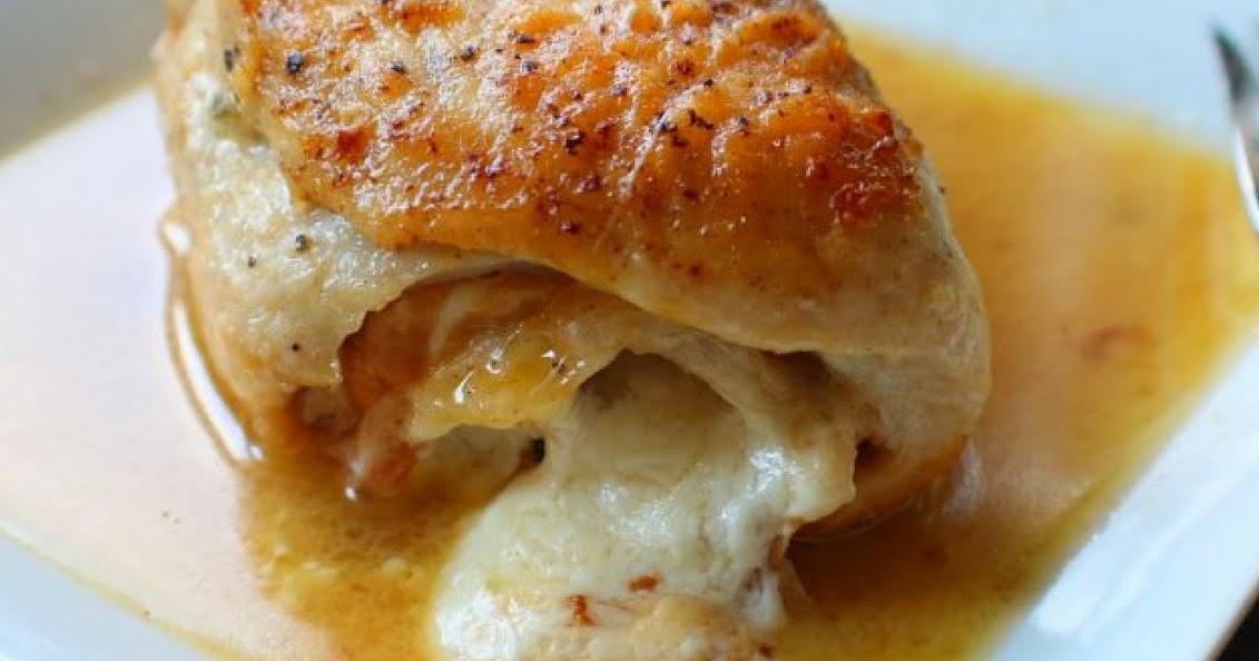 Rolled Chicken Saltimbocca in White Wine Sauce