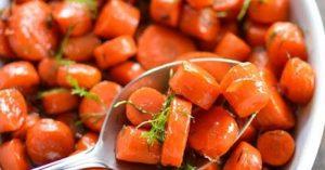 Bourbon Maple Glazed Carrots