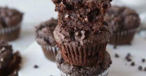1-bowl Vegan Double Chocolate Muffins