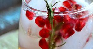 Pomegranate and Rosemary White Sangria