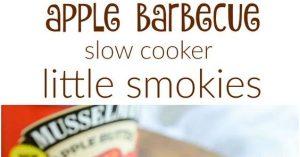 Apple Barbecue Slow Cooker Little Smokies