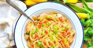 Dump-and-Bake Chicken Spaghetti
