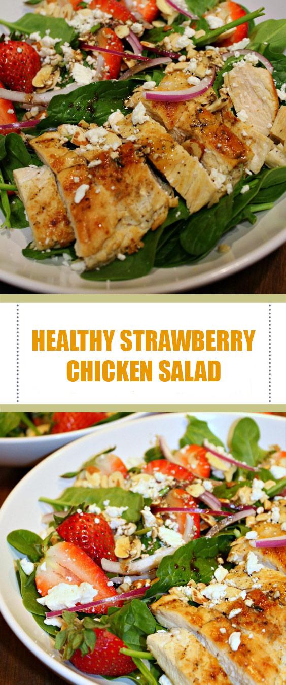 Healthy Strawberry Chicken Salad