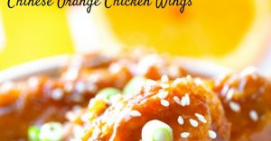 Chinese Orange Chicken Wings