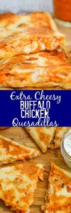 Extra Cheesy Buffalo Chicken Quesadillas Recipe