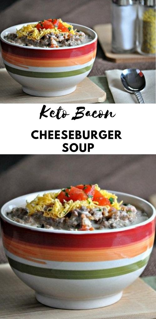 Keto Bacon Cheeseburger Soup
