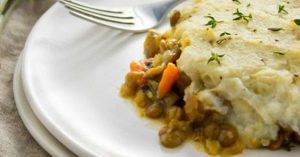 Vegan Shepherd's Pie with Mashed Cauliflower